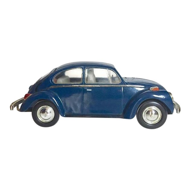 Vintage Volkswagen Beetle Decanter Jim Beam Collectible Metal VW Bug - Image 1 of 10