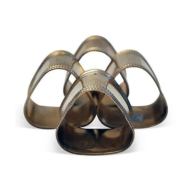 Sculptural Triangular Napkin Rings - Set of 4 - Image 2 of 5