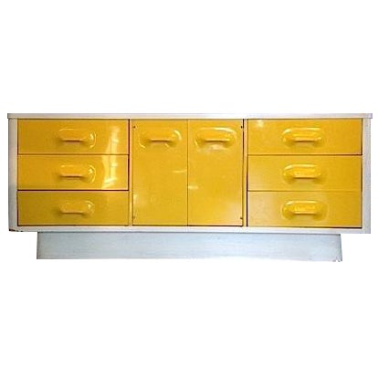 Yellow Broyhill Dresser/ Credenza - Image 1 of 11