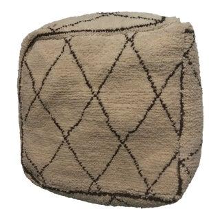 Moroccan Vintage Wool Pouf