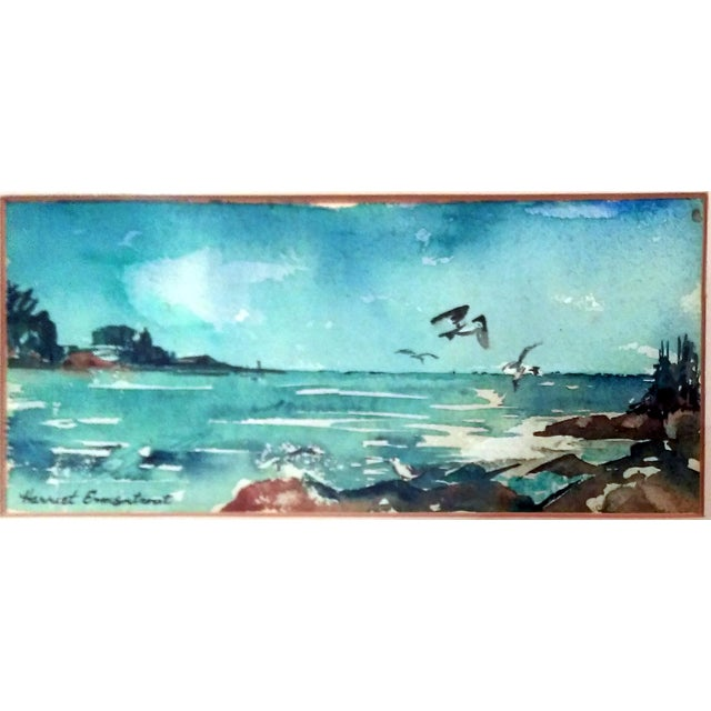 Harriet Ermentrout Seascape Watercolor Painting - Image 3 of 9