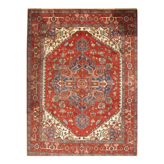 Pasargad NY Serapi Design Hand-Knotted Rug - 9' x 12'