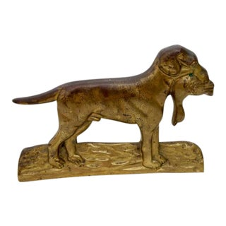Vintage Brass Dog Doorstop