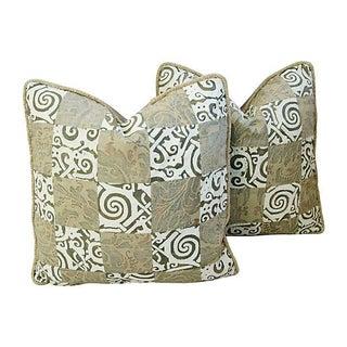 Custom Fortuny Maori & Glicine Pillows - Pair