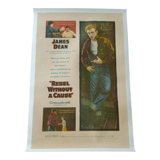 """Original First Run """"Rebel Without a Cause"""" Poster"""