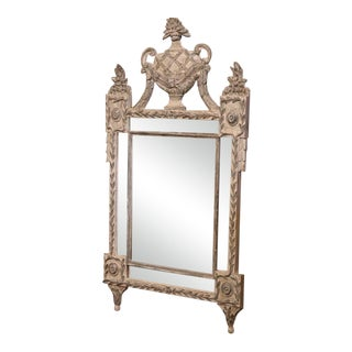 20th Century Italian Hand-Carved 2-Tone Painted Mirror