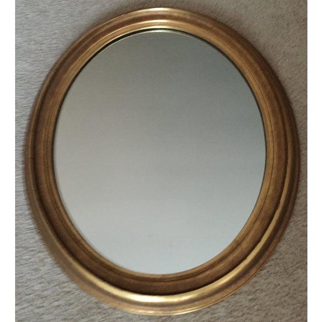 Vintage Gilt Wood Oval Mirror - Image 8 of 8