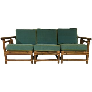 1940s Rattan Sofa by Calif-Asia
