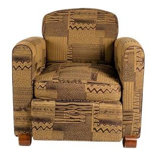 Jules Leleu Pair of Club Chairs and Also a Third Single Chair