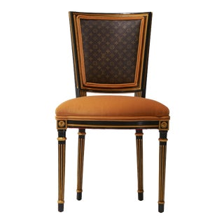 Black & Gold 'Madalene' Occasional Chair