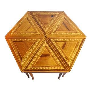 Vintage Reuge Musical Triangle Tables - Set of 6
