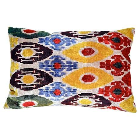 Image of Velvet Ikat Double-Sided Pillow