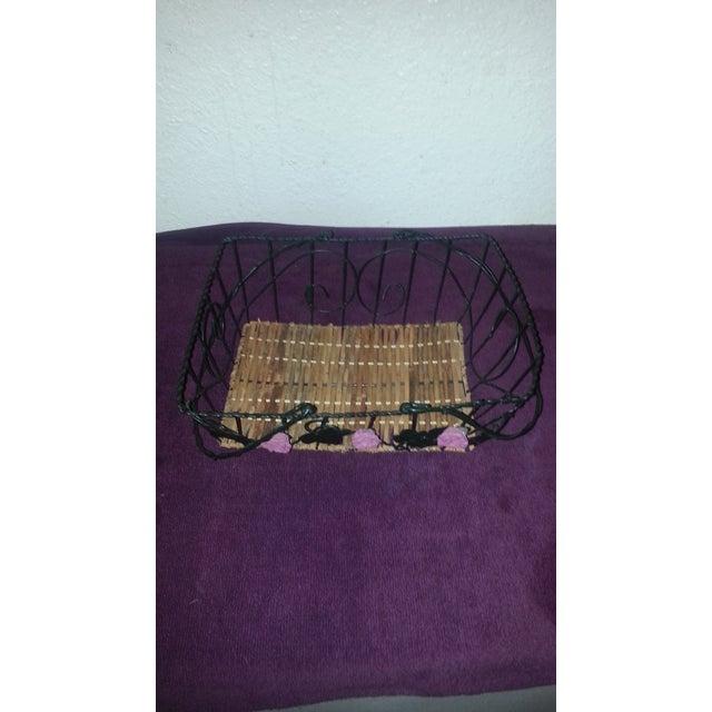 Wicker & Wire Basket - Image 4 of 5