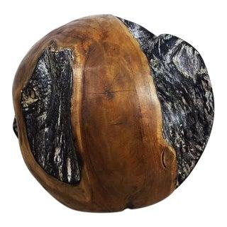 Handmade Wooden Decorative Ball Sculpture