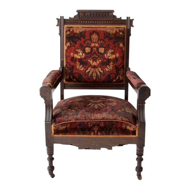 Antique Upholstered Arm Chair Chairish