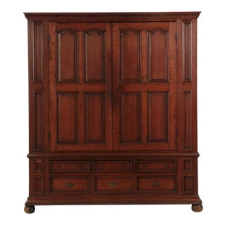 American Chippendale Armoire Cabinet