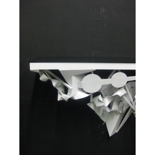 Wall Mounted Console in White Lacquer - Image 3 of 5