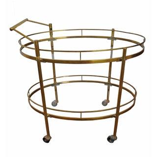 Vintage Brass 1950s Bar Cart