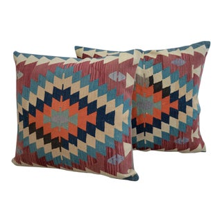 Turkish Kilim Rug Pillow Covers - A Pair
