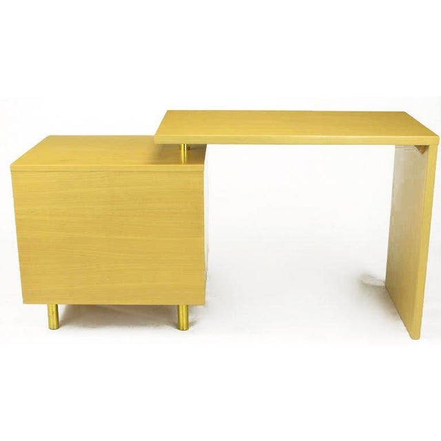 Bleached Mahogany Articulated Desk After Harvey Probber - Image 6 of 10