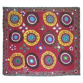 Vintage Suzanni Embroidery Throw