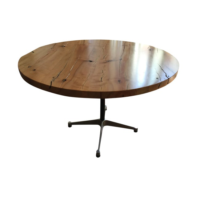 Urban Hardwoods Reclaimed Wood Table W/Eames Base - Image 1 of 3