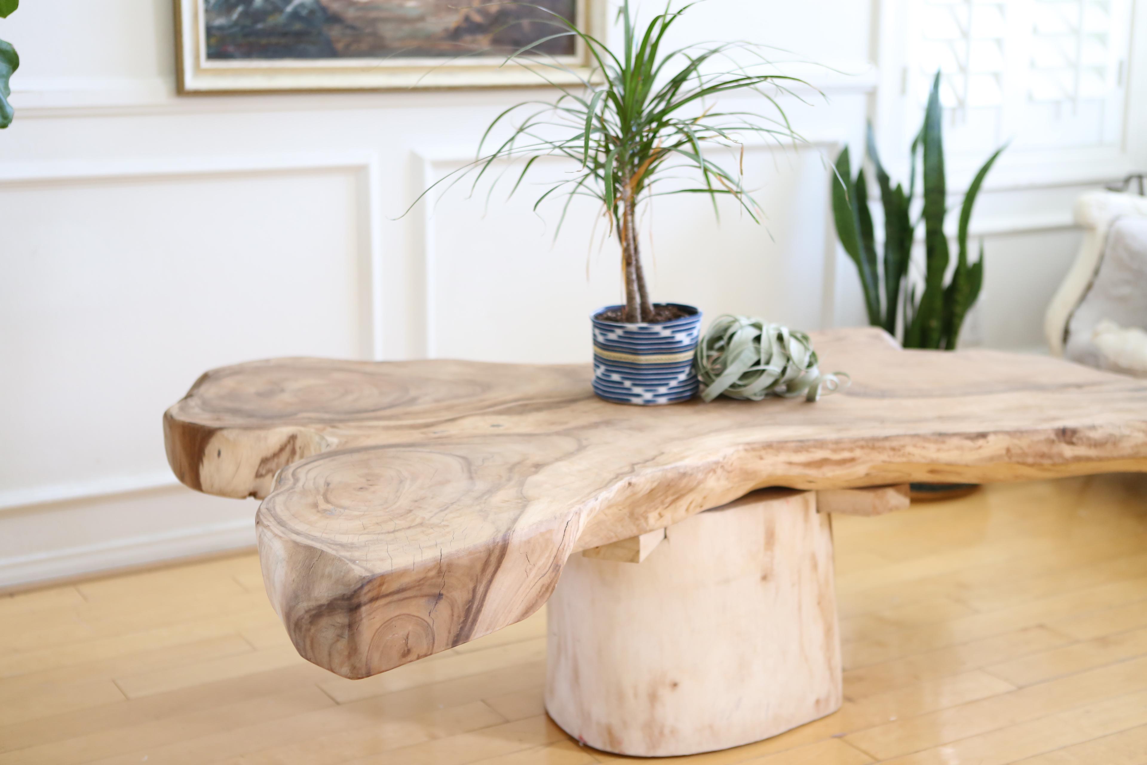 Live Edge Wooden Coffee Table Chairish