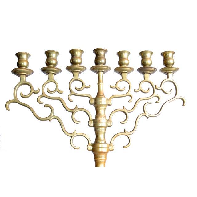 7-Branch Brass Menorah - Image 4 of 8