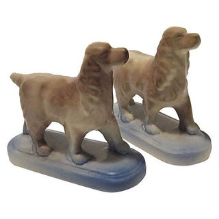 Hunting Dogs Spaniel Bookends - A Pair