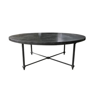 Baker Round Marble & Iron Cocktail Table