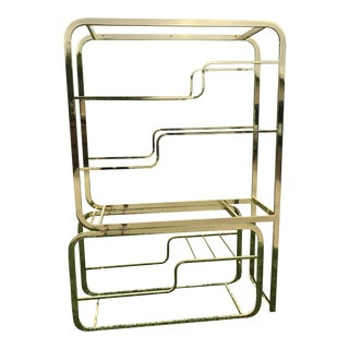 Milo Baughman for DIA Inc. Brass Etagere