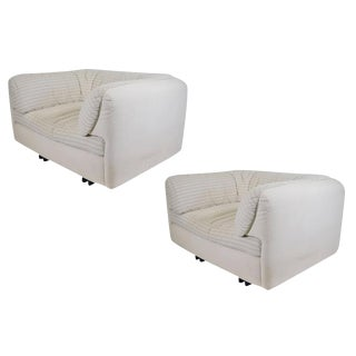 Pair of Super Comfortable Lounge Chairs by Arflex