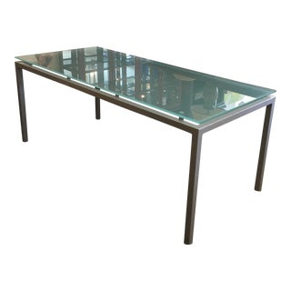 Design Within Reach Frosted Glass & Metal Dining Table