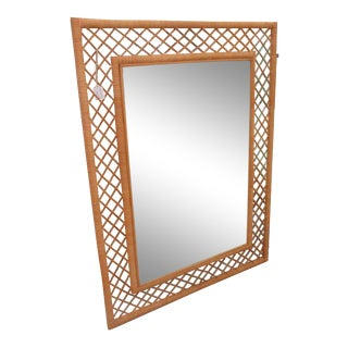 Wrapped Bamboo Wall Mirror
