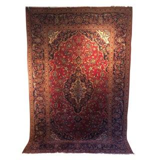 Vintage Oriental Kashan Hand Made Rug - 6′6″ × 9′8″