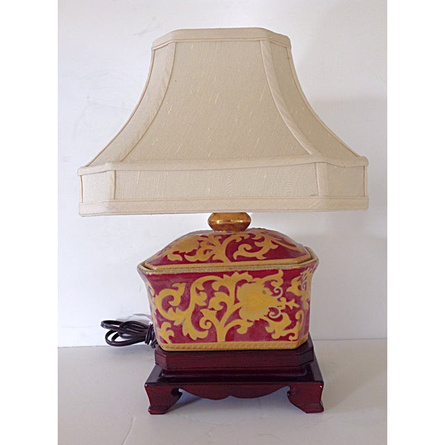 Small Porcelain Asian Table Lamp - Image 2 of 3