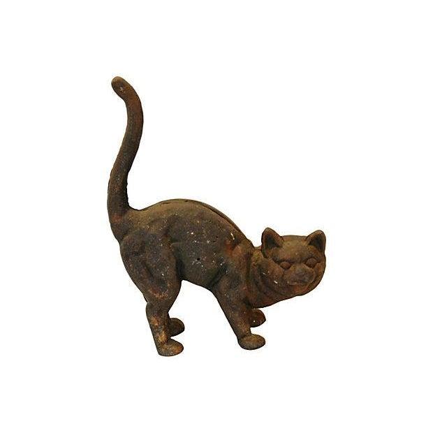 Vintage cast iron cat doorstop chairish - Cast iron cat doorstop ...