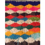 Image of A Rare Vintage Moroccan Boucherouite Rug - 4′7″ × 8′4″