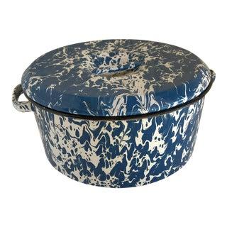 Splatter Ware Enamel Lidded Pot