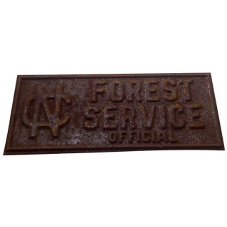 Vintage North Carolina Forest Service Sign