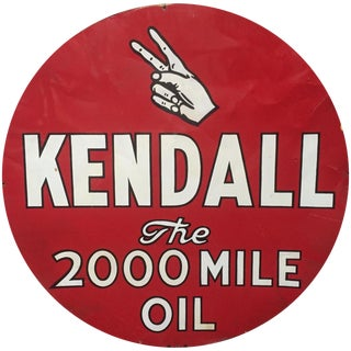 Kendall 2000 Mile Oil Vintage Advertising Sign