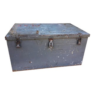 Industrial Dark Grey Metal Toolbox