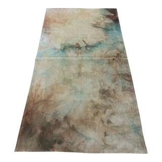 Vintage Turkish Tie Dyed Oushak Curtain Kilim Rug- 2′11″ × 5′10″