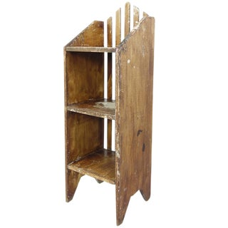 Primitive Painted Three-Tier Shelf