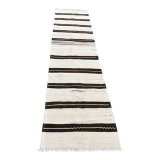 Vintage Anatolian Striped Kilim Runner - 2′4″ × 9′8″