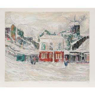Maurice Utrillo - Montmarte Lithograph