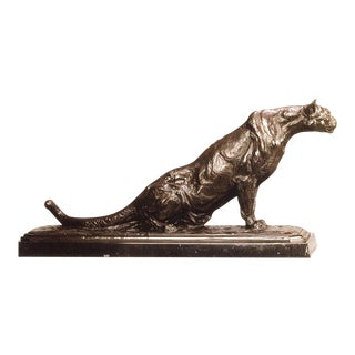 Monumental Silent Twitch by Richard Loffler, Edition 5/10, Mountain Lion Bronze