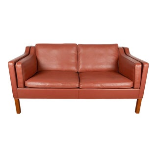 Pair of Borge Mogensen Leather Loveseats