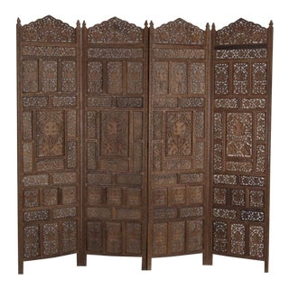 Jali 4-Panel Room Divider From India