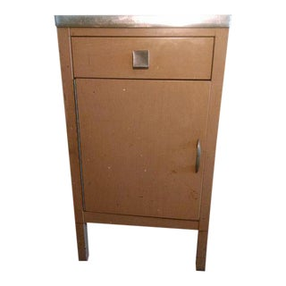 Norman Bel Geddes for Simmons Industrial Medical Cabinet Nightstand